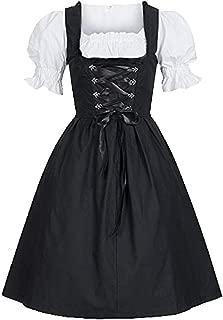 Tsmile Women Laced Puff Sleeve Dress Classic Cute Lolita French Oktoberfest Coplay Costume Party Fancy Maid Dress