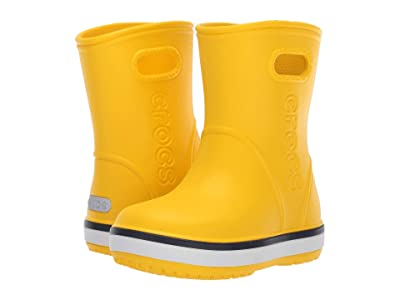 Crocs Kids Crocband Rain Boot (Toddler/Little Kid) (Yellow/Navy) Kid