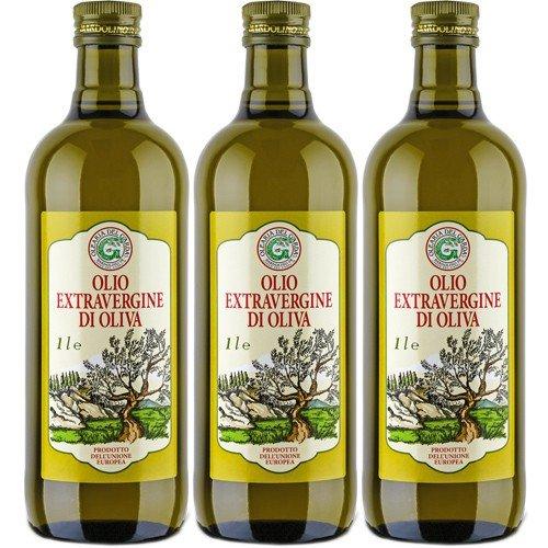3x Olearia Del Garda Olivenöl 'Extra Vergine', 1000 ml