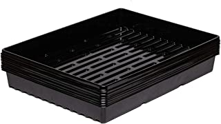 "10 Pack of 16""12"" Durable Black Plastic Growing Trays Without Drain Holes"