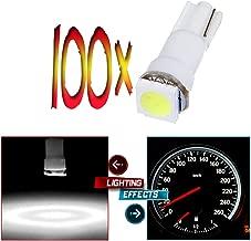 cciyu T5 73 74 LED Light Bulb Gauge Cluster Light Dash Instrument Indicator LED Light Bulbs (white)