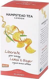 Hampstead Tea Organic Fairtrade, Lemon Ginger Tea, 20 Count Sachet