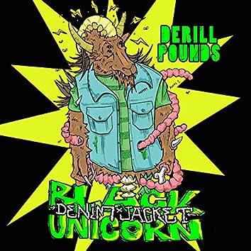 Black Unicorn Denim Jacket