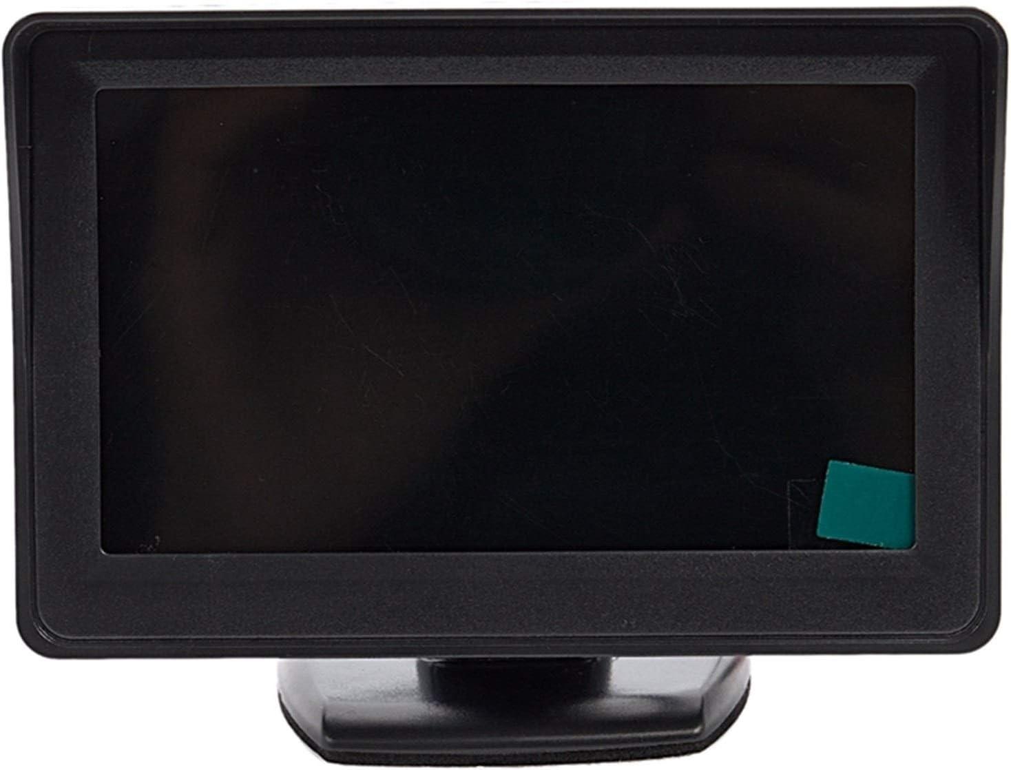 Cámara marcha atrás 2 En 1 Aparcamiento System Kit 4.3 Pulgadas TFT LCD En Color Vista Posterior Pantalla + Impermeable Que Invierte La Cámara De Copia De Seguridad Cámara Visión Trasera Visión Traser
