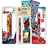 Marvel Avengers Pen Bundle Set ~ 2 Deluxe Ballpoint Gel Pens, Projector Pen, Bookmarks, and Avengers Stickers (Avengers Office Supplies, School Supplies)
