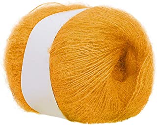 FlyKits Acrylic Wool Yarn - 16 Colors Soft Lightweight Warm Roving Worsted Yarn for Knitting and Crochet, Needle Felting Hand Spinning DIY Craft Scarf Sweater - 25g/Bundle