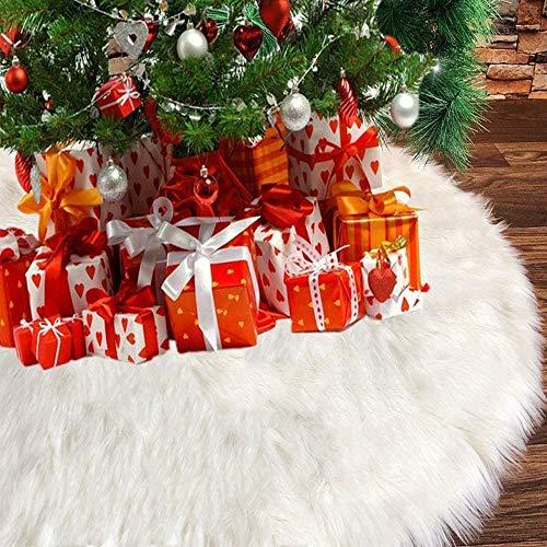 クリスマスツリースカート 長毛 ふわふわ サンタクロース ツリースカート クリスマス飾り 立体飾り 下敷物 円形 豪華 クリスマスパーティー オーナメント 雰囲気 クリスマス用品
