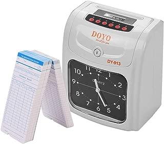 Festnight DOYO Reloj de tiempo electrónico Pantalla LED Doble color Impresión con batería de almacenamiento incorporada 50 Tarjetas de tiempo 2 teclas