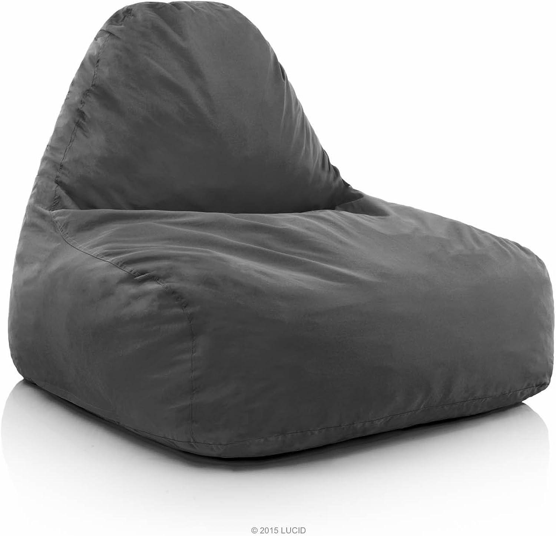 LUCID Oversized Shredded Foam Lounge Chair - Charcoal