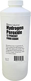 Blubonic Food Grade Hydrogen Peroxide 12% (Derived from 35%) Stabilizer Free, Pure Oxygen and Water H2O2 (32 fl oz (Quart))
