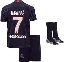 Paris Mbappe #7 2019/20Heim Trikot Shorts und Socken Kinder und Jugend GrößeHeim