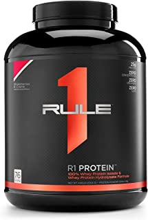 Sponsored Ad - R1 Protein Whey Isolate/Hydrolysate, Rule 1 Proteins (76 Servings, Strawberries and Creme), 77.7 Ounce