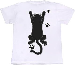 [GENJU] Tシャツ 猫 ネコ にくきゅう アメカジ 前面無地版 メンズ