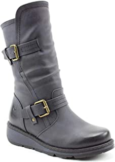 Womens Heavenly Feet Saddle5 Tall Knee High Riding Boots Navy Faux Leather Zip