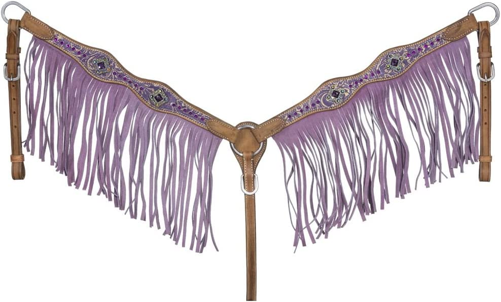 Tough-1 Sweet Pea Breast Collar with Fringe Max Low price 86% OFF