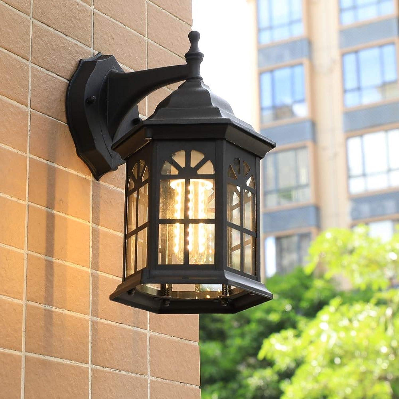 Led Auenlampe Wasserdichte Wandleuchte Outdoor Wandleuchte Vintage Licht Flur Wandleuchter, Auenwandleuchten Wandlampe [Energieklasse A+],schwarz