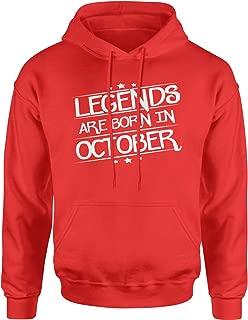 Legends are Born in October Unisex Adult Hoodie