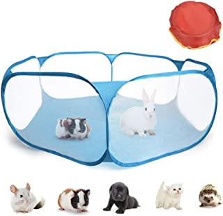 ATPWONZ Guinea Pig Cage Puppies Cage Rabbit Cage Small Animals Pet Playpen, Portable Yard Fence for Hamsters,Chinchillas,Hedgehog,Puppy,Cats,Baby Ball Pit, Pet Play Pen for Outdoor/Indoor
