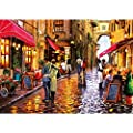 Rocorose 1000 Piece Jigsaw Puzzle Floor Puzzle for Kids Adult (Coffee Street)