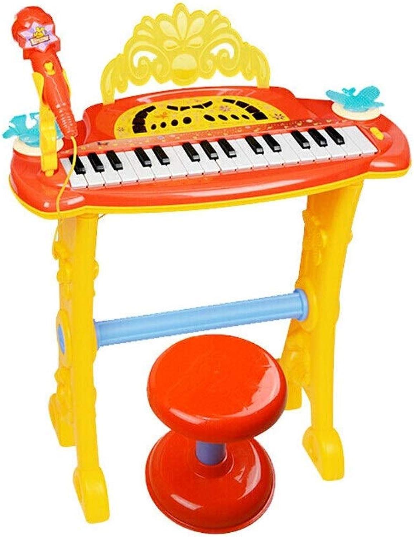 los últimos modelos HXGL-piano Juguetes para Niños Música Teclado Batería Un Juguete Juguete Juguete de educación temprana Rompecabezas con micrófono Boy Girl Regalo de cumpleaños (Color   A)  entrega gratis