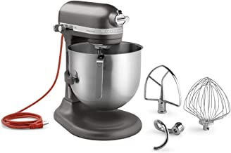 KitchenAid KSM8990DP 8-Quart Commercial Countertop Mixer, 10-Speed, Gear-Driven, Dark Pewter (Renewed)