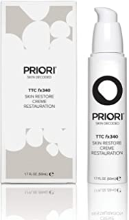Priori Skin Restore Face Cream fx340 for Women and Men, 24-hour Hydrating & Brightening Fragrance Free Moisturizer | Turmeric, Vitamin C, Green Tea | Clean Beauty for All Skin Types - 1.7 oz (50ml)