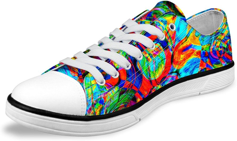 Multicolor Print Fashion Canvas Low Top shoes Casual Athletic shoes