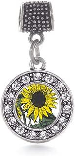 sunflower charm bracelet