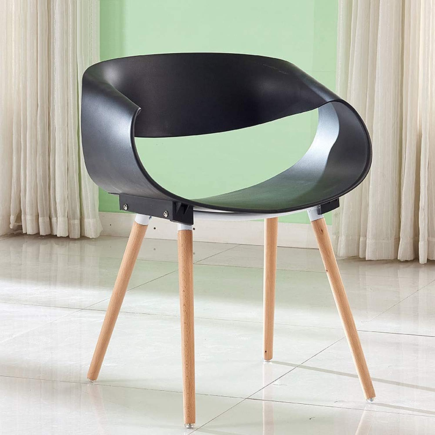 Modern Minimalist Infinite Chair Designer Plastic Chair Creative Fashion Dining Chair Office Conference Chair Leisure Discussion Chair (color   Black)