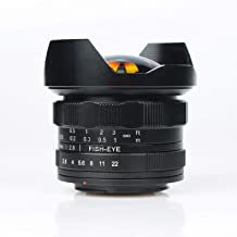 7.5mm F/2.8 Professional 180° Ultra Wide Angle Spherical Fisheye Lens APS-C Camera for Canon EF-M Mount Digital Cameras