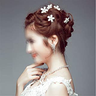 LUKEEXIN Pearl Bridal Hair Bun Hair Accessories Bridal Dress Accessories Wedding Bridal Handmade Headwear 12pcs (Color :)