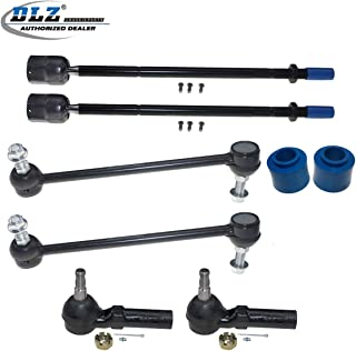 DLZ 8 Pcs Front Suspension Kit-2 Outer 2 Inner Tie Rod End 2 Sway Bar Link 2 Lower Control Arm Bushing Compatible with Ford Windstar 1995 1996 1997 1998 1999 2000 2001 2002 2003
