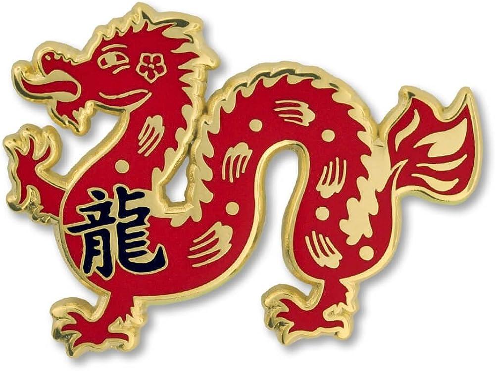 PinMart Regular discount Chinese Zodiac Year of Lapel Dragon trend rank The Enamel New