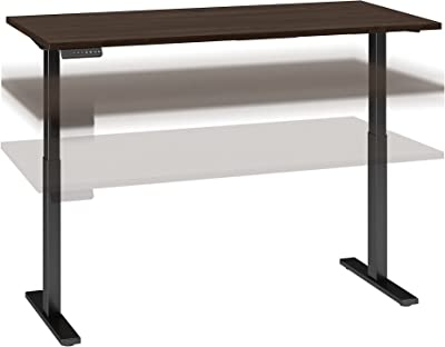Bush Business Furniture Move 60 Series Electric Height Adjustable Standing Desk, 60W x 30D, Black Walnut with Black Base