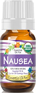 Essential Oil for Nausea (USDA Organic - 100% Pure) Unique Blend of Essential Oils Recomended by Aromatherapists for Aromatherapy - 10ml