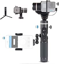 Feiyu G6 Kit 3-Axis Action Camera Gimbal with MiniTripod GoPro Session Adapter Phone Clip and Magic arm Adapter Kit, OLED Screen 5000 mAH Battery for GoPro Hero 7 Hero 6 Hero 5 Yi cam 4K Sony RX0