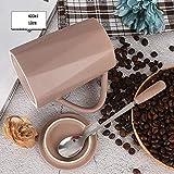 Taza de cerámica para café, café con capuchino, café con leche, café expreso, zumo caliente, regalo de cumpleaños, color caqui – Geometría invertida