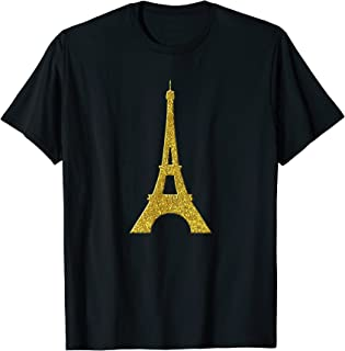 Paris Tour Eiffel, symbole d'or Vintage T-Shirt