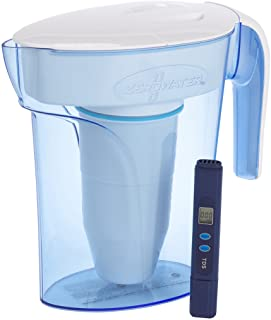 ZeroWater Carafe filtrante pour 7 tasses avec filtre avancé en 5 étapes | Compteur de qualité de l'eau + cartouche de filt...
