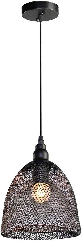 punto de venta Y.H.Valuable Iluminación de Techo Iluminación Iluminación Iluminación Colgante Lámpara Colgante del Techo del Bulbo de E26   E27 del Uso de la Malla de Alambre de la luz del Vintage, Negro - Iluminación de Interior  las mejores marcas venden barato