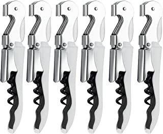 6 Pack Corkscrew Wine Opener With Foil Cutter By YWQ -Thick Stainless Steel Bottle Opener For Beer Or Wine - Love It Or Re...
