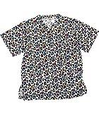 Pijama sanitario unisex. Pijamas sanitarios baratos con tejido antimanchas. Pijama sanitario con estampado huellas.