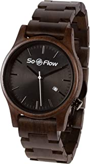 SoFlow Exotic Wood Grain Watches for Men & Women - Sandlewood Wooden Wrist Watch - Natural - Handmade - Gift - Quartz