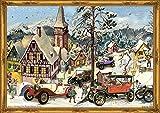 Richard Sellmer Verlag Calendario dell'Avvento nostalgico con glitter e immagini per bambini e adulti