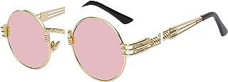 Gothic Steampunk Sunglasses Men Women Metal Wrapeyeglasses Round Shades Brand Designer Sun Glasses
