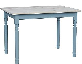 Multistore 2002 Table de salle à manger en pin massif Bleu 60 x 120 cm