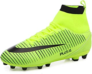 FCSHOES Men's Soccer Shoes Football FG Soccer Cleats Outdoor Sneakers Futsal Shoes High Ankle Football Boots