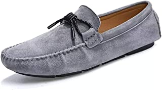 Xujw-shoes, Mens Lolafer Pigskin Leather Driving Loafer for Men Plain Color Boat Moccasins Slip On Style Classic Bowknot Low Top Exquisite Texture Wear-Resistant