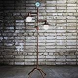 ZCYY Lámpara de pie Industrial Retro, lámpara de pie de tubería de Agua de Hierro Forjado de Cobre Antiguo, lámpara de pie con Interruptor de atenuación para Bar, cafetería, Sala de Estar, E27