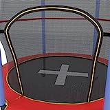 Ultrasport Kinder Indoor-Trampolin Jumper 140 cm, Spaß- und Fitnesstrampolin für Kinder ab 3 Jahren, für die Nutzung als Zimmertrampolin besonders gesichert mit Netz und Randabdeckung, Rot/Blau
